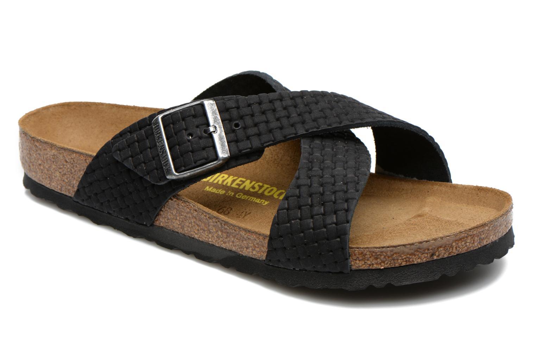 Sandales et nu-pieds Birkenstock Tunis Nubuck M Noir vue détail/paire