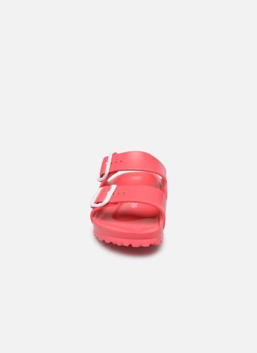 Clogs & Pantoletten Birkenstock Arizona EVA Women II rosa schuhe getragen