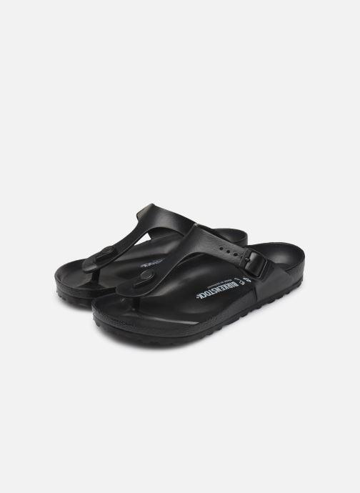 Sandalen Birkenstock Gizeh EVA W schwarz ansicht von unten / tasche getragen