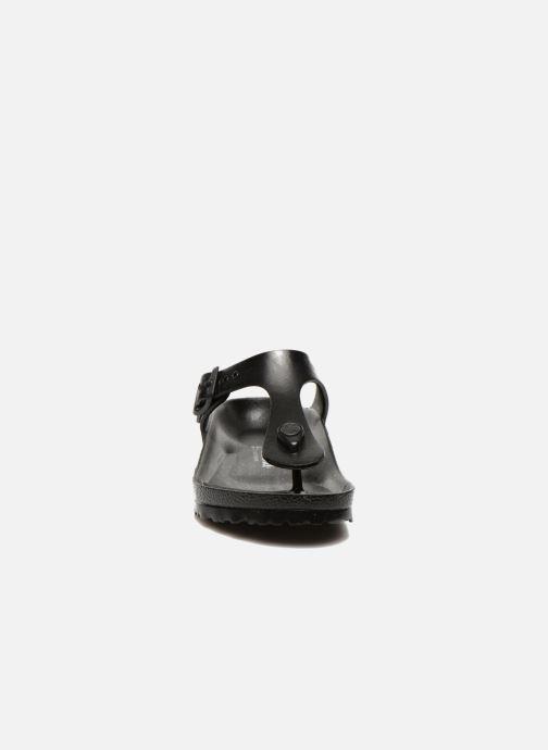 Sandalen Birkenstock Gizeh EVA W schwarz schuhe getragen