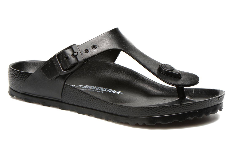 Sandals Birkenstock Gizeh EVA W Black detailed view/ Pair view