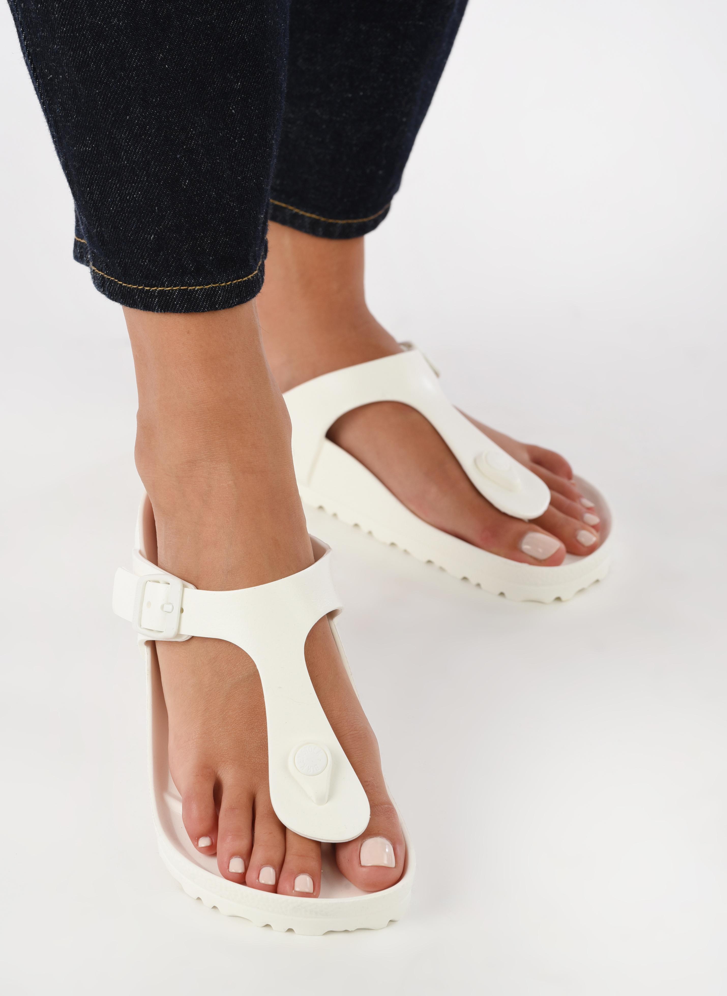 Sandali e scarpe aperte Birkenstock Gizeh EVA W Bianco immagine dal basso