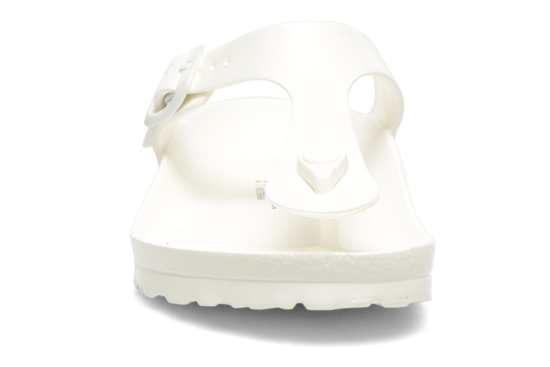 Sandali e scarpe aperte Birkenstock Gizeh EVA W Bianco modello indossato