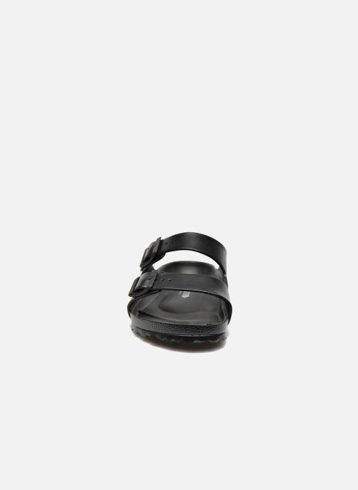 Sandalen Birkenstock Arizona EVA M schwarz schuhe getragen