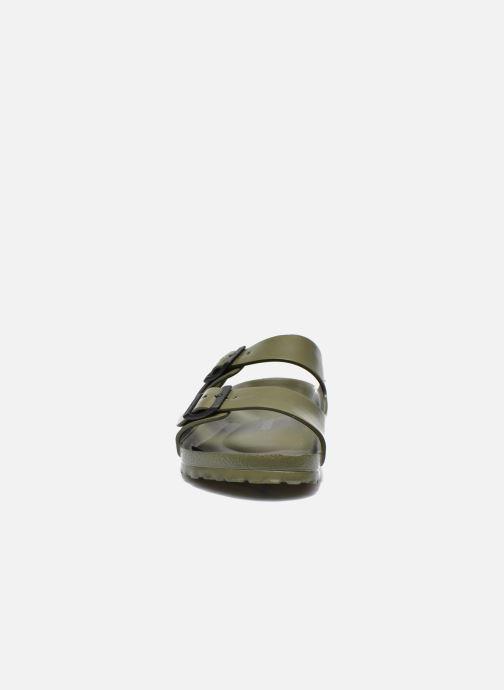 Sandalen Birkenstock Arizona EVA M grün schuhe getragen