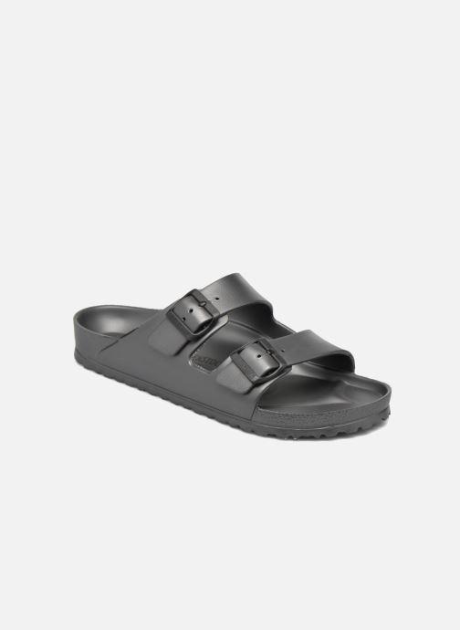Sandales et nu-pieds Birkenstock Arizona Flor Men II Gris vue détail/paire