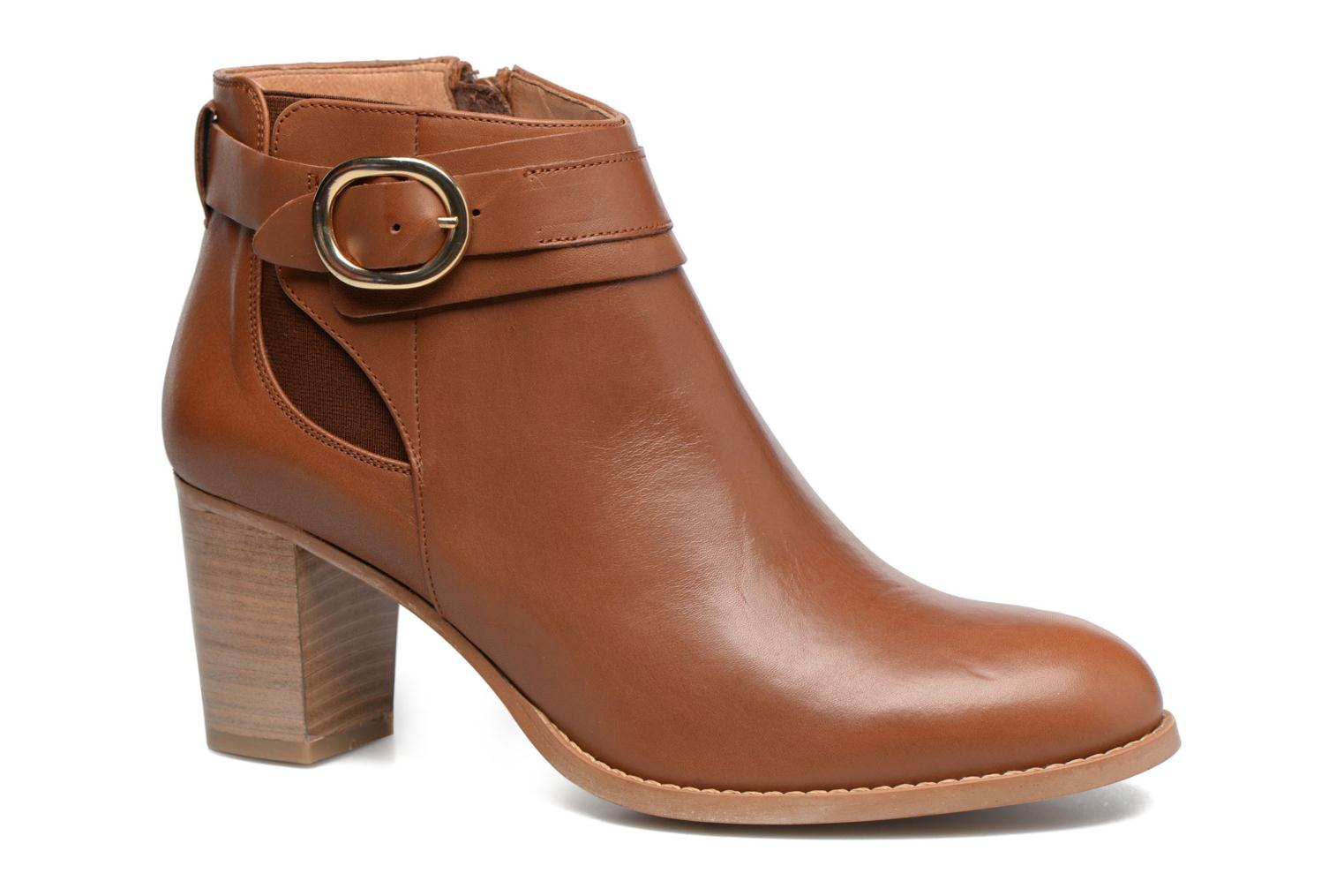 Ankle boots Georgia Rose Eperdrix Brown detailed view/ Pair view