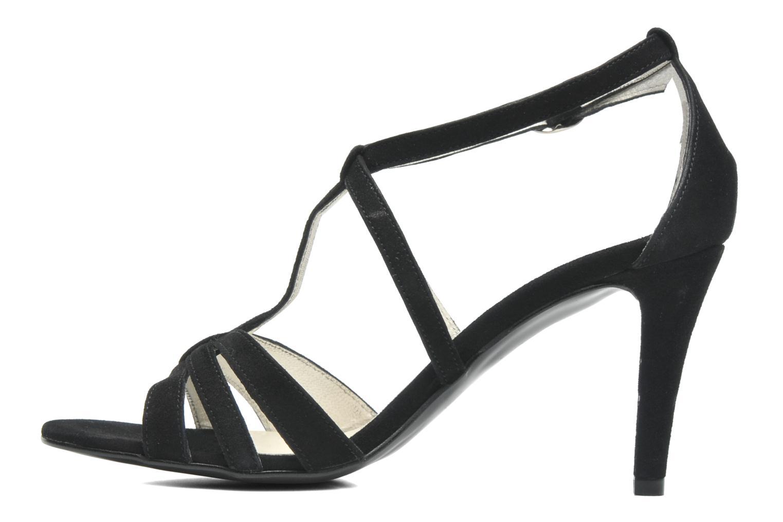 Sandales et nu-pieds Georgia Rose Epurée Noir vue face