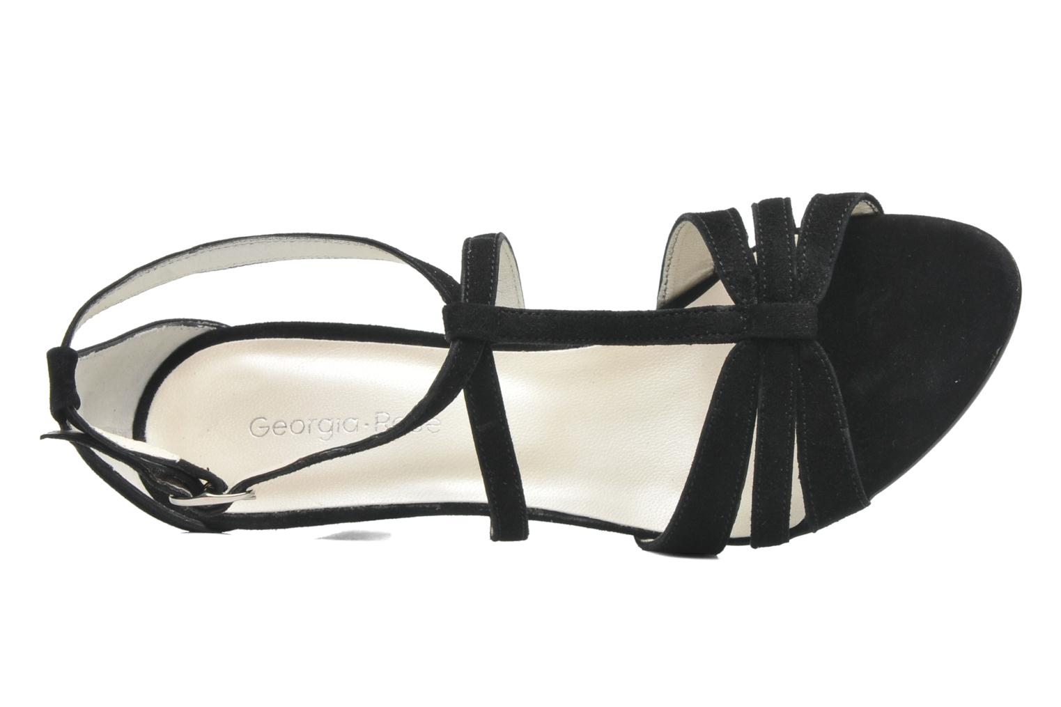 Sandals Georgia Rose Epurée Black view from the left