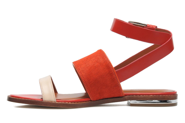 Sandales et nu-pieds Rebecca Minkoff Serena Orange vue face