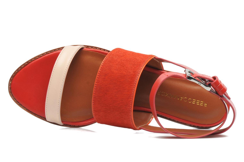 Sandales et nu-pieds Rebecca Minkoff Serena Orange vue gauche