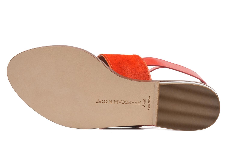 Sandales et nu-pieds Rebecca Minkoff Serena Orange vue haut