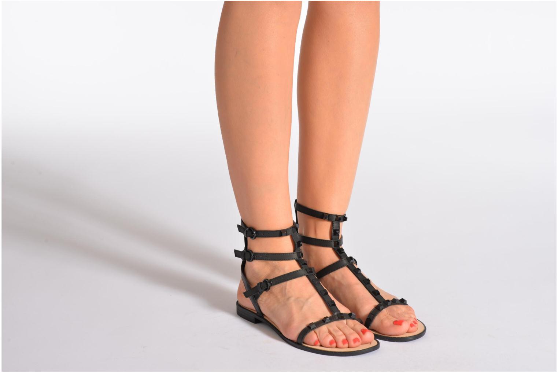 Sandales et nu-pieds Rebecca Minkoff Georgina Noir vue bas / vue portée sac