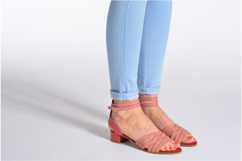 Sandales et nu-pieds Georgia Rose Labibiche Rose vue bas / vue portée sac