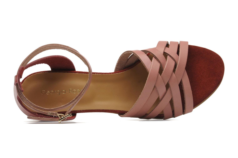Sandales et nu-pieds Georgia Rose Labibiche Rose vue gauche