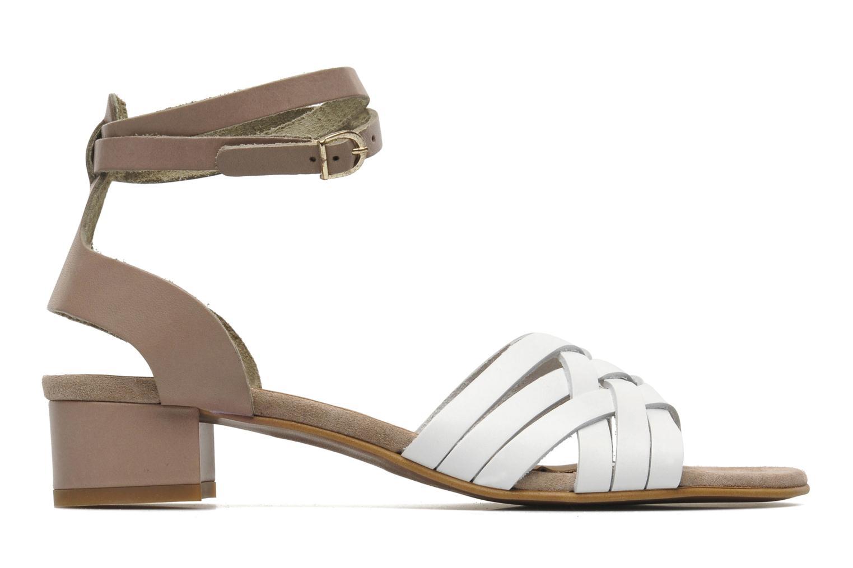 Sandales et nu-pieds Georgia Rose Labibiche Blanc vue derrière