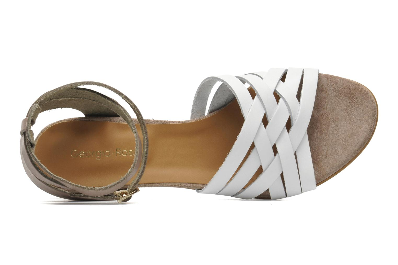 Sandales et nu-pieds Georgia Rose Labibiche Blanc vue gauche
