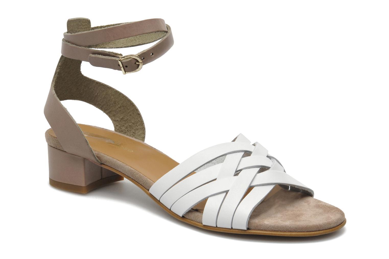 Sandales et nu-pieds Georgia Rose Labibiche Blanc vue détail/paire