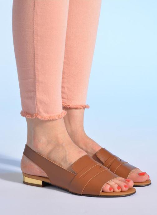 Sandales et nu-pieds Made by SARENZA Chamallow #1 Marron vue bas / vue portée sac