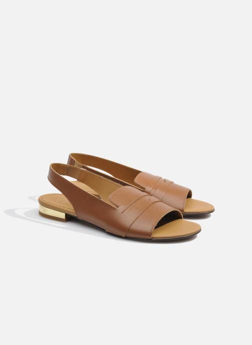 Sandales et nu-pieds Made by SARENZA Chamallow #1 Marron vue derrière