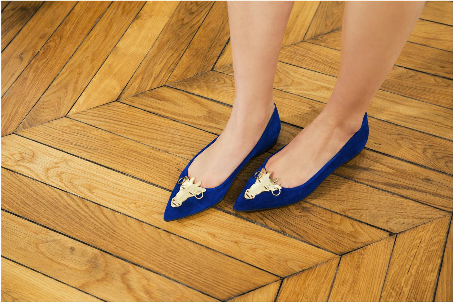 Ballet pumps Made by SARENZA Cape Town #10 Blue 3/4 view