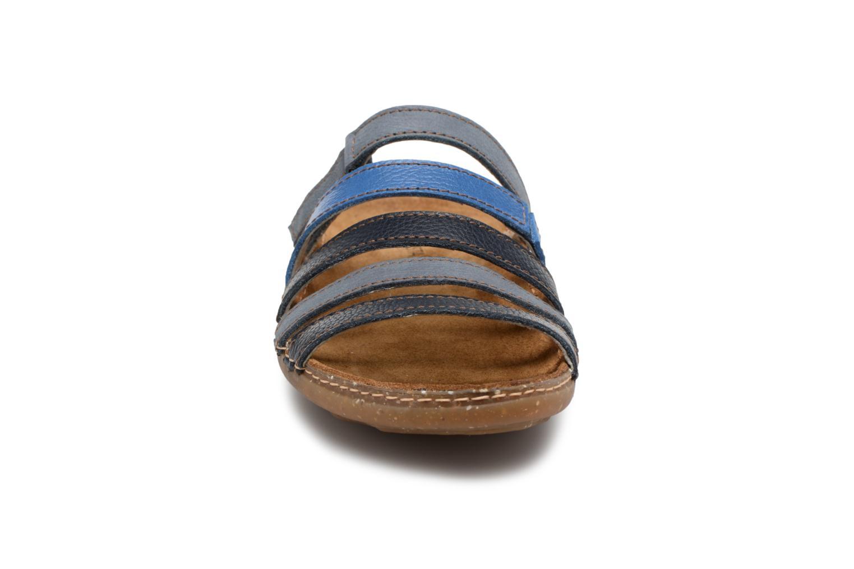 Mules et sabots El Naturalista Torcal N327 Bleu vue portées chaussures
