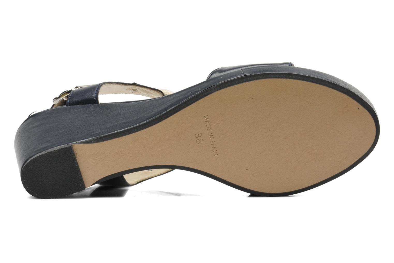 Sandales et nu-pieds Georgia Rose Sarty Bleu vue haut