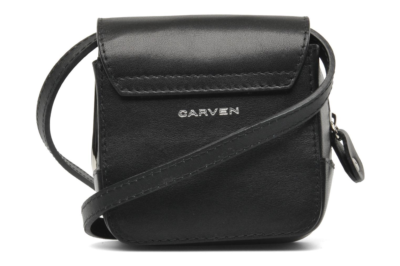 Sacs à main Carven SAINT SULPICE Mini boîte Noir vue portées chaussures