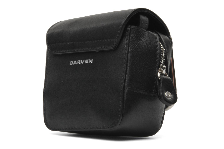 Handbags Carven SAINT SULPICE Mini boîte Black front view