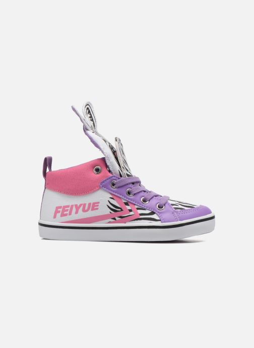 Sneakers Feiyue Delta Mid Animal Wit achterkant