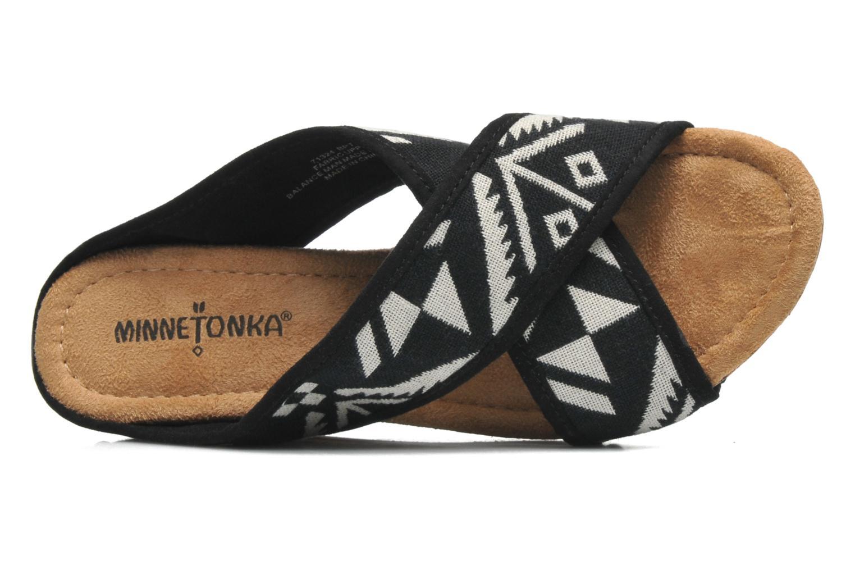 Sandales et nu-pieds Minnetonka Lainey Noir vue gauche