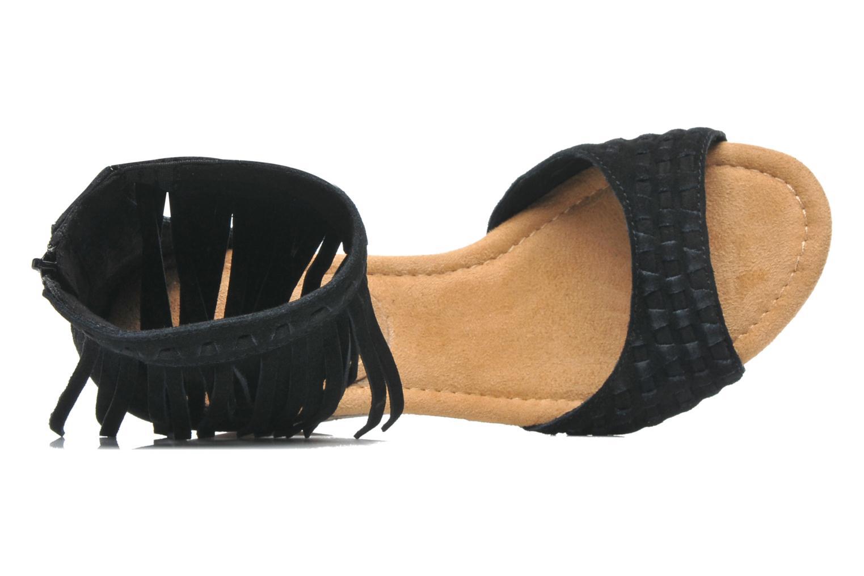 Sandales et nu-pieds Minnetonka Isabel Noir vue gauche