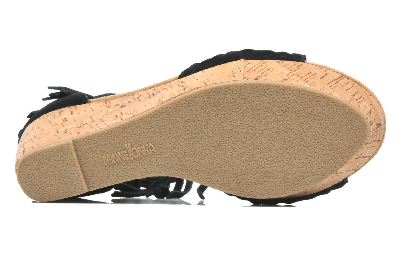 Sandales et nu-pieds Minnetonka Isabel Noir vue haut