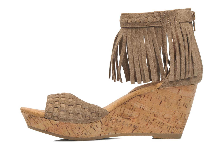 Sandales et nu-pieds Minnetonka Isabel Beige vue face