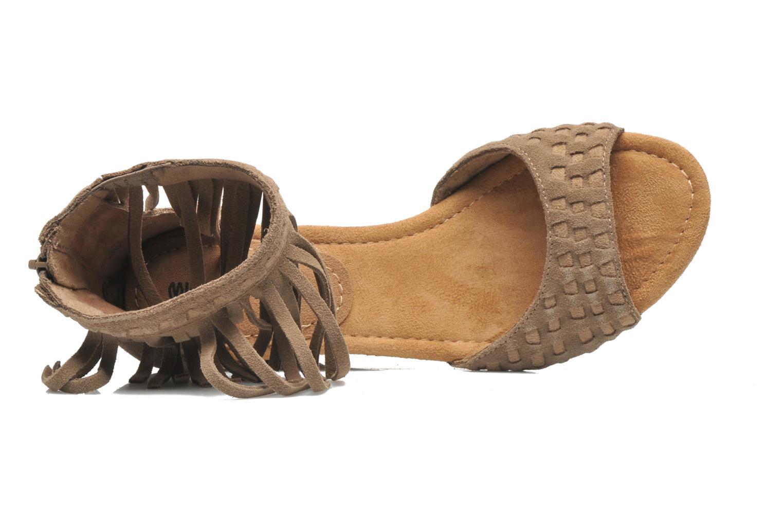 Sandales et nu-pieds Minnetonka Isabel Beige vue gauche
