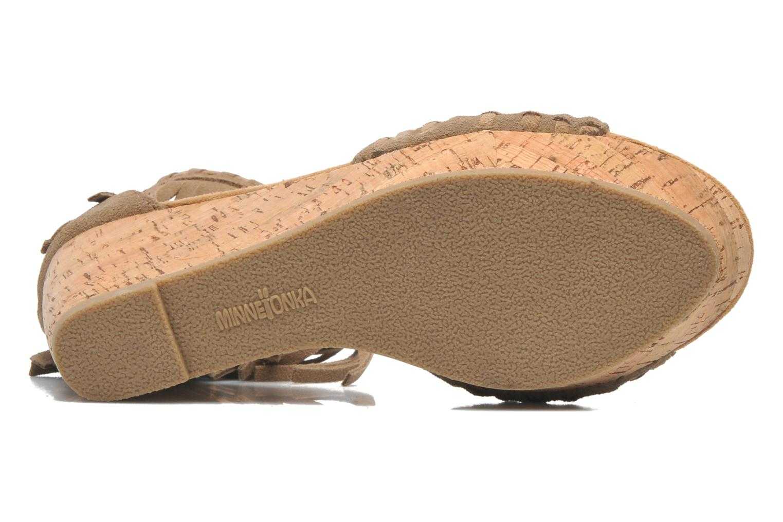 Sandales et nu-pieds Minnetonka Isabel Beige vue haut
