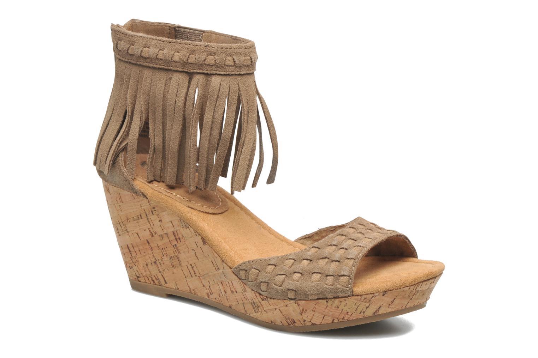 Sandales et nu-pieds Minnetonka Isabel Beige vue détail/paire