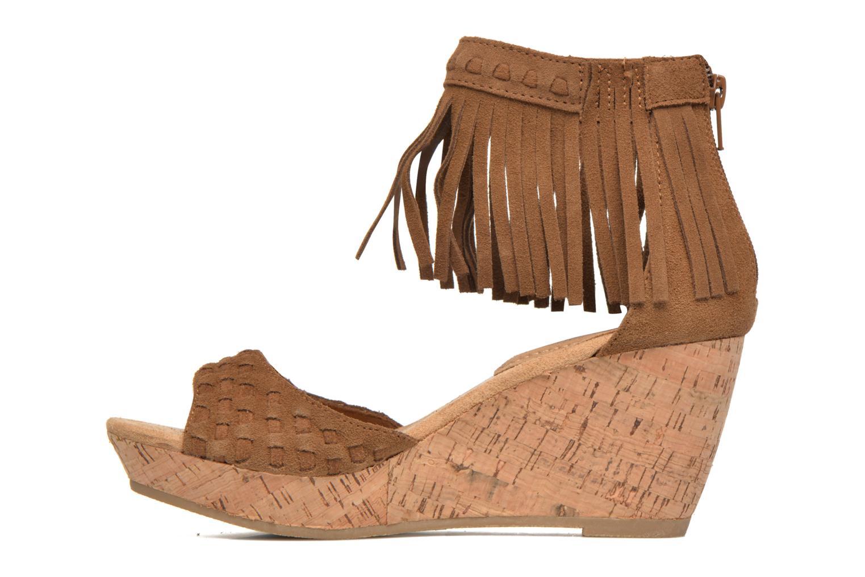 Sandales et nu-pieds Minnetonka Isabel Marron vue face