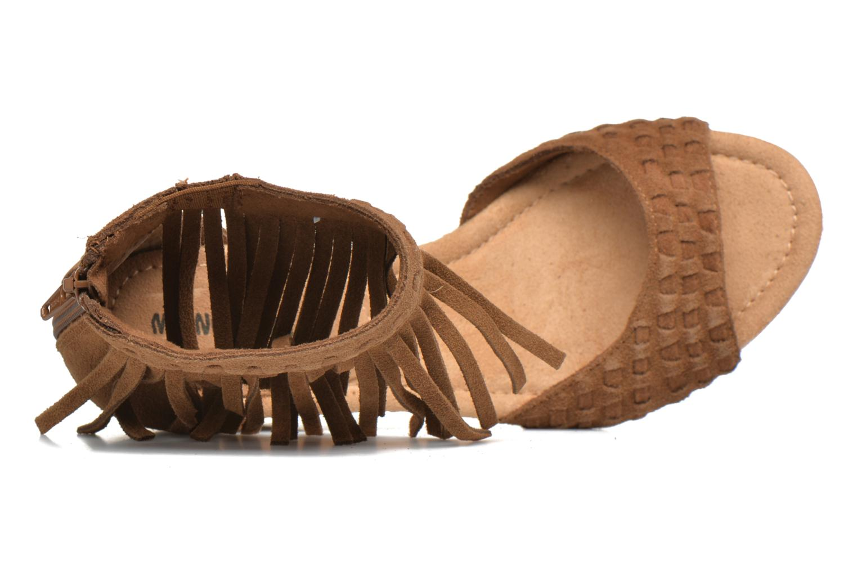 Sandales et nu-pieds Minnetonka Isabel Marron vue gauche