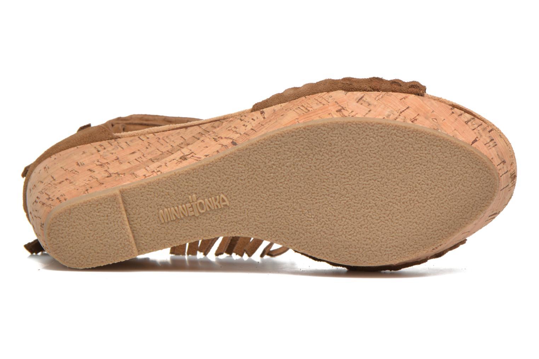 Sandales et nu-pieds Minnetonka Isabel Marron vue haut