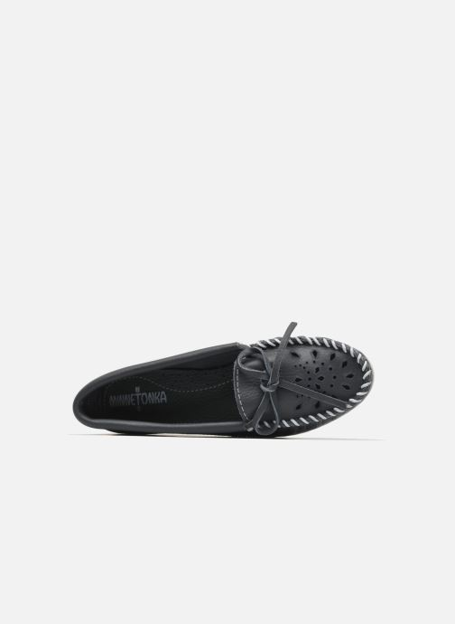 Minnetonka blau Cut Slipper Moc 218488 Out Leather rzrq7f