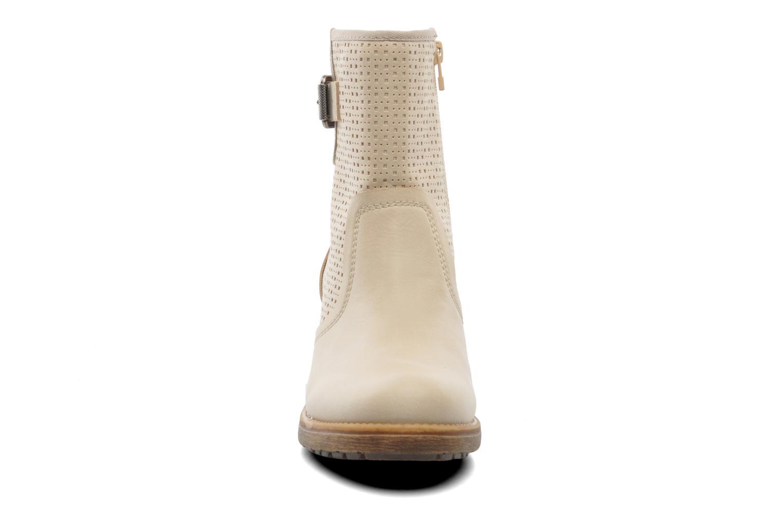 Stiefeletten & Boots Esprit Saki Bootie 018 beige schuhe getragen