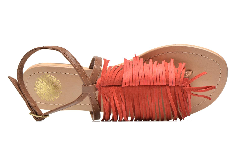 Sandales et nu-pieds Tormaline Playa Rouge vue gauche