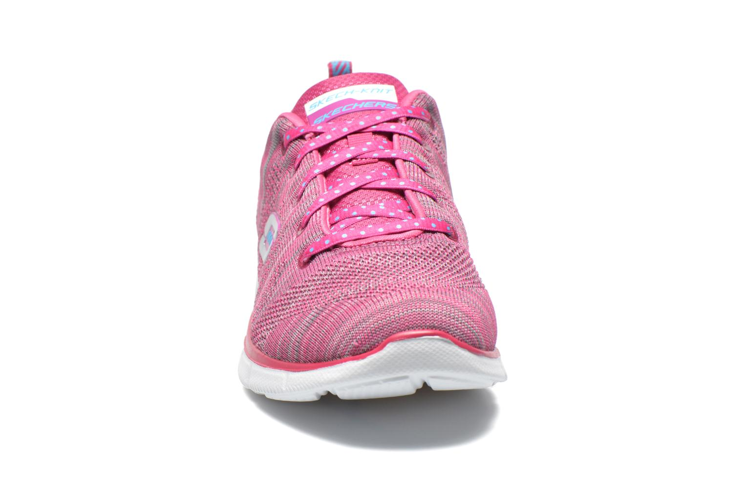 Baskets Skechers Equalizer First Rate 12033 Rose vue portées chaussures