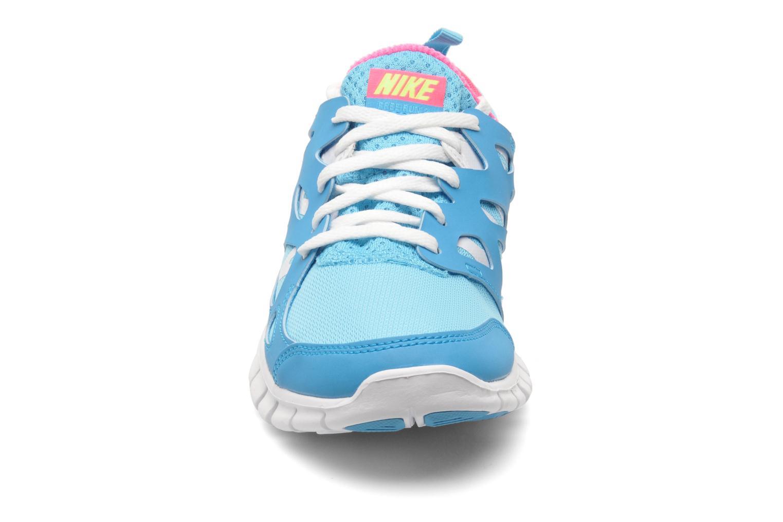 Sneakers Nike NIKE FREE RUN 2 (GS) Azzurro modello indossato