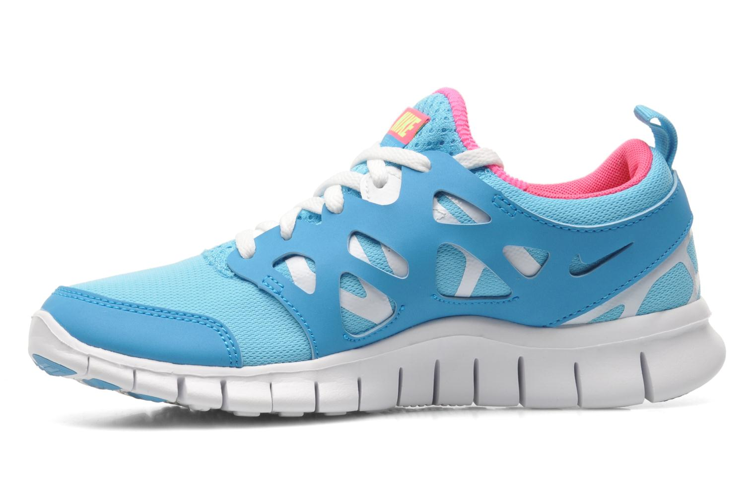 Baskets Nike NIKE FREE RUN 2 (GS) Bleu vue face