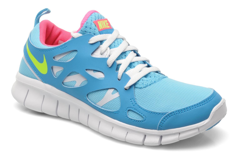 premium selection 376ad 3734e Baskets Nike NIKE FREE RUN 2 (GS) Bleu vue détail paire