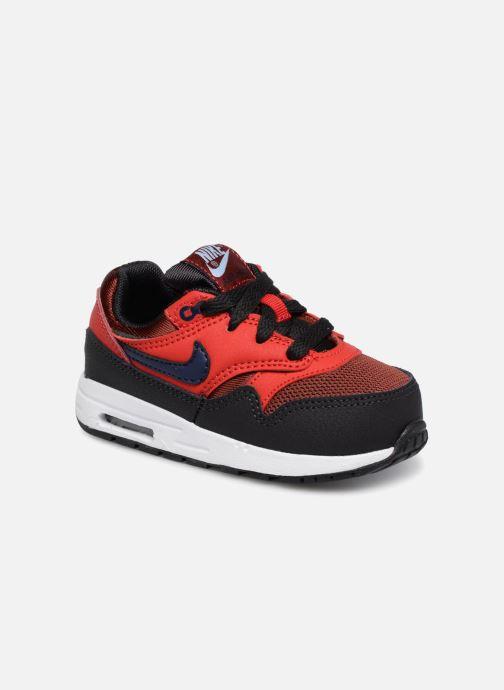 Baskets Nike AIR MAX 1 (TD) Rouge vue détail/paire