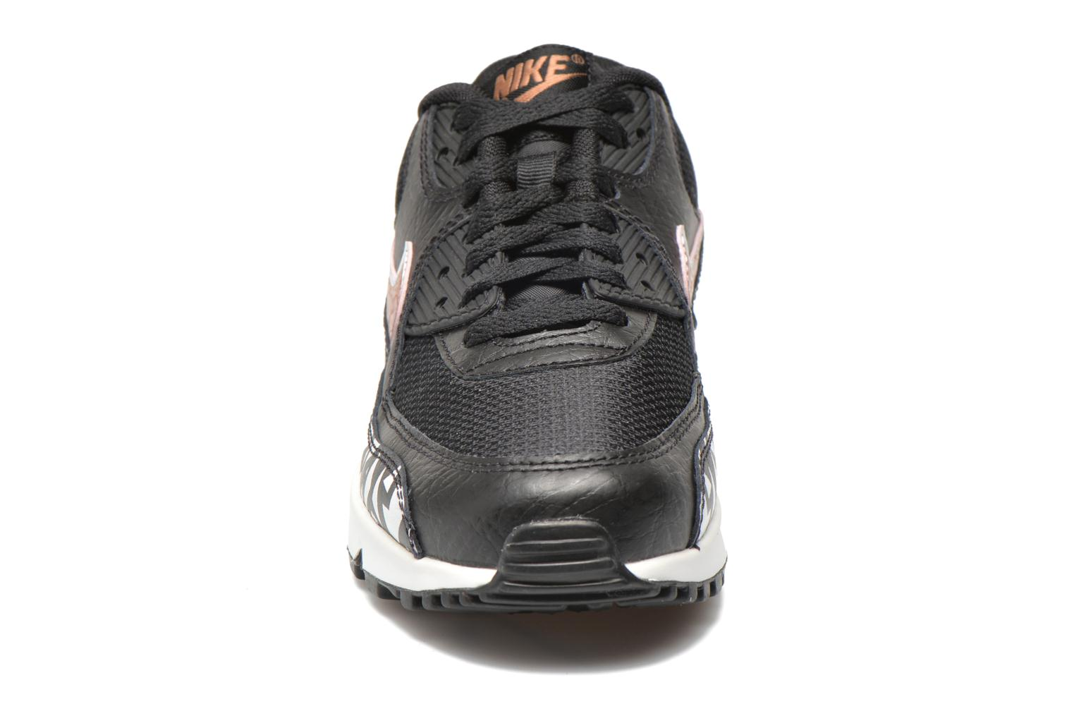 Trainers Nike AIR MAX 90 FB (GS) Black model view