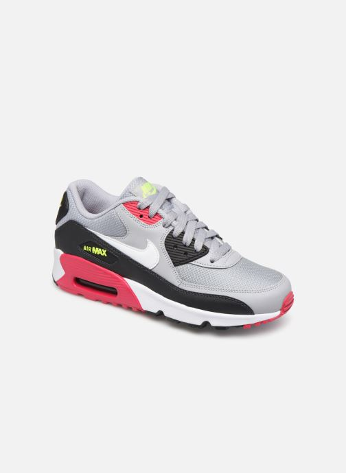 Baskets Nike NIKE AIR MAX 90 MESH (GS) Gris vue détail/paire